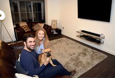 Leigh Davison, 27 and Yiannis Metallinos, wanted to find their first home together with enough room to entertain family and friends. First Home, Case Study, The Help, Home Appliances, Quote, Change, Friends, People, Room