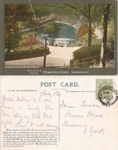 Ramsdale Valley, Scarborough, Yorkshire: Edwardian Postcards Scarborough England, Yorkshire, Postcards, Yorkshire Terrier Puppies, Greeting Card