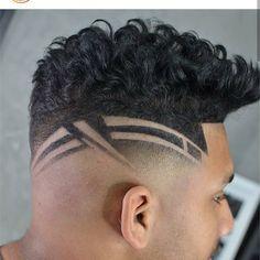 Trending Hairstyles For Men, Haircuts For Men, Hot Hair Styles, Hair And Beard Styles, Gents Hair Style, Shaved Hair Designs, Haircut Designs, Fresh Hair, Hair Tattoos
