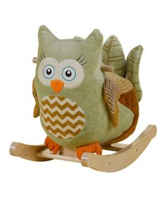 Look at this #zulilyfind! Owliver Owl Rocker by Rockabye #zulilyfinds @Lindsey Duncan look at this I found for sawyer!