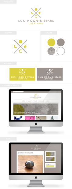 Sun Moon and Stars Creations | Branding, eCommerce Web Design, and Blog Design by Emily M. Thompson | Indie Shopography