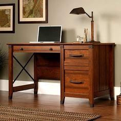 Craftsman Mission Desk w/Wrought Iron
