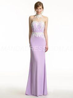amandadress.com.au SUPPLIES Sleeveless Flowers Hourglass Spring Fall Summer Wedding Party Trumpet/Mermaid Dress Purple Bridesmaid Dresses