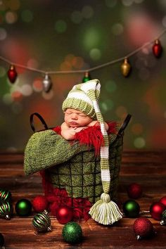 Newborn Christmas Elf Hat Boy Hat Girl Hat Green Long by CozyGifts Babies First Christmas, Christmas Baby, Christmas Crafts, Green Christmas, Christmas Pics, Christmas Colors, Christmas Sweaters, Merry Christmas, Newborn Pictures