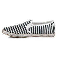 Brokátové prúžkované espadirlky 6598B Slip On, Sneakers, Shoes, Fashion, Tennis, Moda, Slippers, Zapatos, Shoes Outlet