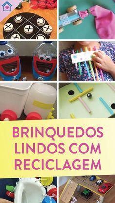 15 brinquedos legais com reciclagem - Dicas Práticas Kids Crafts, Diy And Crafts, Summer Preschool Activities, Origami, Reuse Recycle, Cool Toys, Toys For Toddlers, Kids Playing, Recycling Activities For Kids