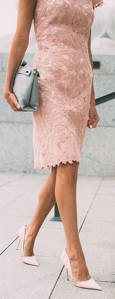 "Pink Lace Dress -  ""because I'm a lady, that's why"""