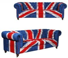"""Makes your bum feel patriotic just sitting on it. you expected it to sing  """"God save  our gracious chair, long live on noble chair....""""  every time you walk in the room."""