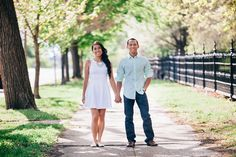 Mint and Magical Engagement Session at Lafayette Park  — Erin Stubblefield Weddings and Portraiture - St. Louis