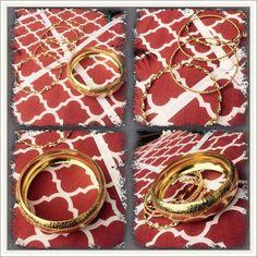 Goldtone Bracelets Five gold tone bracelets.  Three inch diameter Jewelry