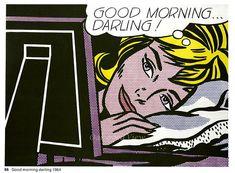 GOOD MORNING DARLING by Roy Lichtenstein Vintage 1971 Pop Art