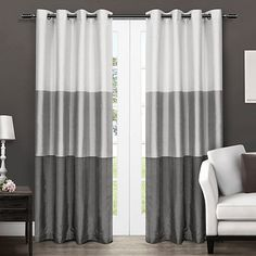 Black Pearl Chateau Curtain Panel Set, 108 in.