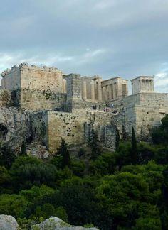 Athens Acropolis, Propylaea and Athena Nike Temple.