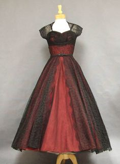 1950's Dress with Matching Lace Jacket