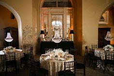 ballroom wedding receptions - photo by Kaylynn Marie Photography http://ruffledblog.com/midnight-in-paris-inspired-wedding-in-new-orleans