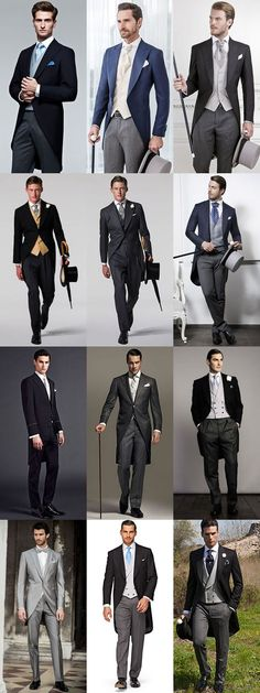 The Groom's Guide To Wedding Wear: The Morning. Wedding Tux, Wedding Attire, Trendy Wedding, Groom Attire, Groom And Groomsmen, Groom Suits, Bride Groom, Morning Coat, Morning Dress