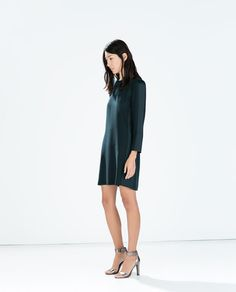Image 1 of STRAIGHT-CUT CREPE DRESS from Zara