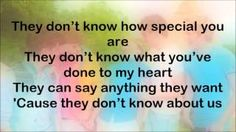One Direction - They Don't Know About Us (Lyrics On Screen), via YouTube.