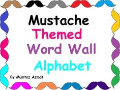 Mustache Themed Word Wall Alphabet with Black Chevron Pattern:Mustache Themed Word Wall Alphabet with Black Chevron Pattern: by Mumtaz Azmat is licensed under a Creative Commons Attribution-NonCommercial-NoDerivatives 4.0 International License.