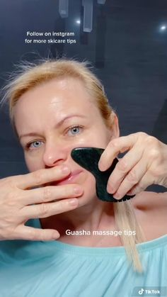 Face Lift Exercises, Gua Sha Facial, Beauty Tips For Glowing Skin, Face Massage, Face Skin Care, Tips Belleza, Skin Treatments, Natural Skin Care, Skin Care Tips