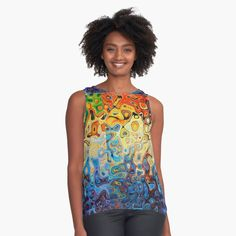 'Pretty Paisley Park Retro Design' Sleeveless Top by greygoodzstore High Street Fashion, Cute Casual Outfits, Chic Outfits, Art Vert, Flamingo Pattern, Daisy Pattern, Colour Pattern, Sunflower Design, Pineapple Pattern