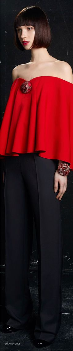 Paule Ka Fall 2016 RTW. www.pauleka.com Black Party Dresses, Party Wear Dresses, Red Fashion, Runway Fashion, Womens Fashion, Little Red Dress, Simply Red, Lady In Red, Dress To Impress