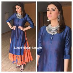 South India Fashion ~ Latest Blouse Designs 2020 - Page 3 Indian Look, Indian Ethnic Wear, India Fashion, Ethnic Fashion, Indian Dresses, Indian Outfits, Bollywood, 2016 Fashion Trends, Look Girl