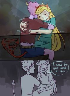 Aww this is cute Starco, Gravity Falls, Homestuck Characters, Evil Anime, Star Force, Dark Drawings, Star Wars, Star Butterfly, Cartoon Games