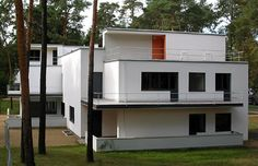 "Marcel Breuer, 1926 - The Muche/Schlemmer House, Dessau, Germany. One of the ""Master Houses"" for Bauhaus faculty, it was a duplex for Georg and El Muche and Oskar and Tut Schlemmer, who were also teaching at the Bauhaus. Designed with Walter Gropius."
