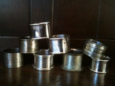 Vintage Napkin Rings / Mixed Lot of 8 / English by EnglishShop, $69.00