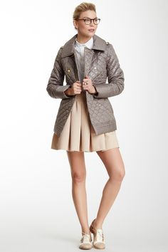 Via Spiga Double Breasted Quilted Coat by Via Spiga on @HauteLook