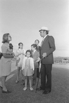 King Hassan II with his family