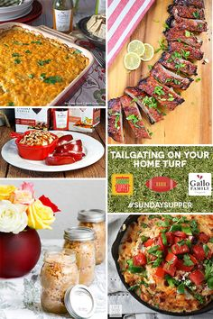 Five Easy Tailgate Food Tips plus Football Party Recipes #SundaySupper with Gallo Family Vineyards. Pin it for your next Game Day Party! And visit www.sundaysuppermovement.com for more recipe collections like this one. #GalloFamily