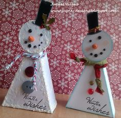 JayneDesigns: Snowman Treat Boxes