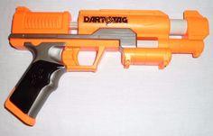 HASBRO NERF DART TAG ORANGE GUN BLASTER WORKS GREAT!!  #NERF