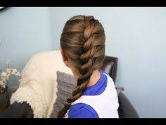 French Twist into Rope Braid: using two sections of hair is easier than three & the technique can be used anywhere on head (ie. two French Twist braids or a French Twist Headband).  The best tip in this video: Don't forget to twist your two sections in the opposite direction before twisting the two together at the bottom.  Love it!!