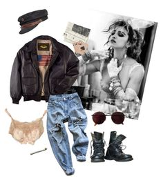 Desperately Seeking Susan by cassie-paulke on Polyvore featuring moda, Levi's, Fallenbrokenstreet, Ray-Ban and vintage
