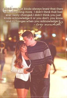 Cory Monteith about his relationship with Lea Michele <3
