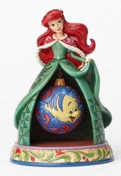 PRE-ORDER: 'Tidings of Wonder' - Ariel and Flounder figurine (Jim Shore Disney Traditions) from Fantasies Come True