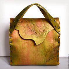 Leather bag / Женские сумки ручной работы. Ярмарка Мастеров - ручная работа. Купить Саквояж VESNA. Handmade. Комбинированный, дизайнерская сумка, дизайн