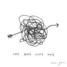 life goes like this - print