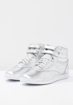 Reebok Classic FREESTYLE METALLIC - High-top trainers - silver metallic/steel/white for £71.99 (03/03/18) with free delivery at Zalando