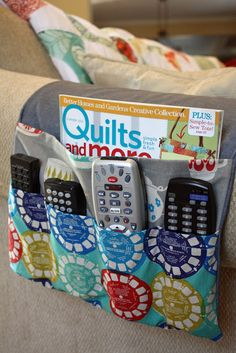 8 Easy Sewing Hacks Every Crafty Person Should Know - Abundator Easy Sewing Projects, Sewing Projects For Beginners, Sewing Hacks, Sewing Tutorials, Sewing Crafts, Sewing Patterns, Sewing Ideas, Remote Control Holder, Remote Caddy