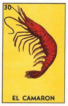 El Loteria Shrimp Card