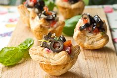 Olive and Goat Cheese Puff Pastry Bites from @Julie - a.k.a. Mommie Cooks