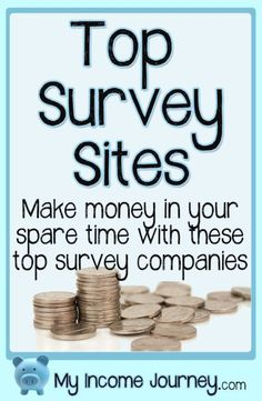 Want to do surveys for money? These are the six companies Ive made money with! Top survey sites, make money from home, work from home, online surveys Work From Home Jobs, Make Money From Home, Way To Make Money, How To Make, Survey Companies, Survey Sites, Online Survey, Earn More Money, Earn Money Online