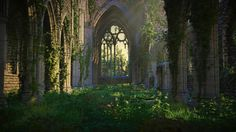 The Enchanted Storybook  Derelict Gothic Abbey ~ Jorge Carlos Gonzalez