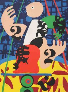 José de Guimarães Stuart Davis, Portugal, Gustav Klimt, Cool Art, Fun Art, Art Deco, Auction, Sculpture, History