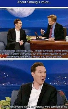 About Smaug's voice - BC on Conan