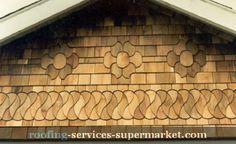 Shingle patterns are lovely Cedar Shingles, Cedar Siding, Wood Siding, Shake Siding, Shingle Siding, Cedar Shakes, Shingle Style Homes, Exterior Trim, Exterior Colors